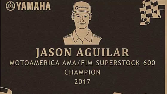 Solarmax Sponsored Rider Jason Aguilar Inducted onto Yamaha's Wall of Champions