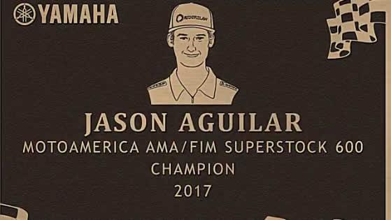Solarmax Sponsored Rider Jason Aguilar Inducted onto Yamaha's Wall of Champions
